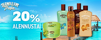 Hawaiian Tropic - 20% alennusta!
