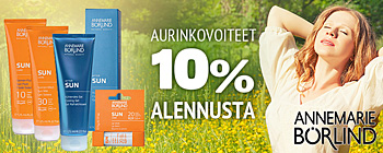 Brlind aurinkovoiteet 10%!