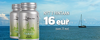 MerVital Fiskolja - 2 hintaan 16 eur (suos 23 eur)!