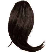 791905 Hairextensions Braided Half Ponytail