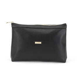 Lucia Black Toiletry Bag