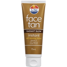 Face Tan Radiant Glow Instant Self Tanning Lotion