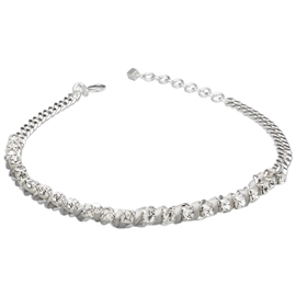 Sensation Necklace - Silver/Grey