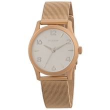Rose Gold Plated Mesh Watch