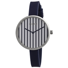 Striped Navy Silicone Watch