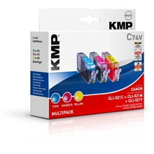 KMP CLI-521C/M/Y Value Pack