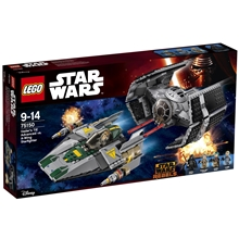 75150 Vader's TIE Advanced vs. A-Wing Starfighter