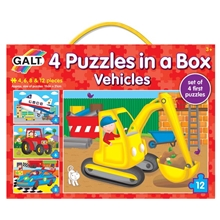 4 Puzzles in a Box - Ajoneuvot