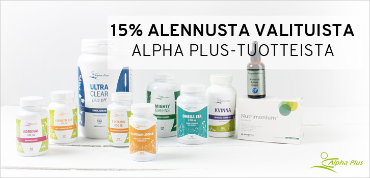 Alpha Plus - 15% alennusta!