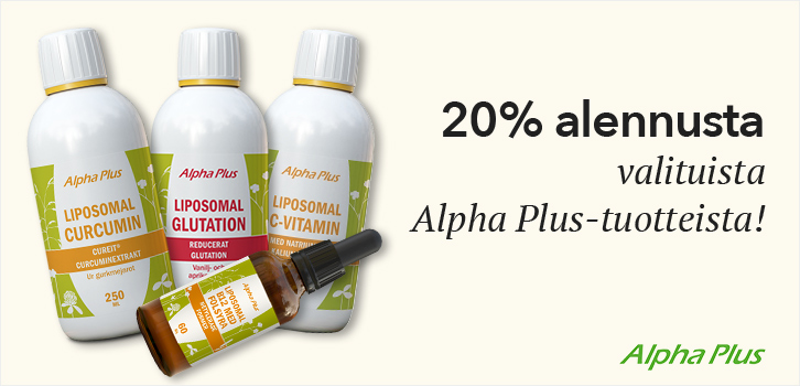 Alpha Plus - 20% alennusta!