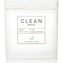 Clean Space Warm Cotton Scented Candle