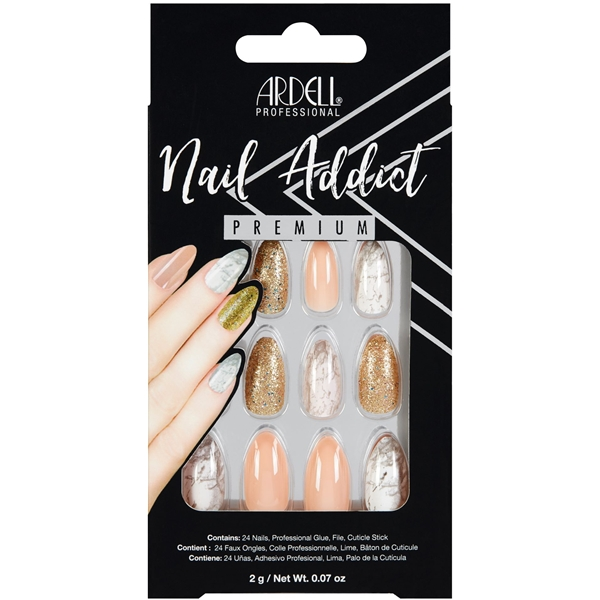 Ardell Nail Addict Pink Marble & Gold