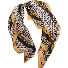 Hair Scarf Silk Golden Safari