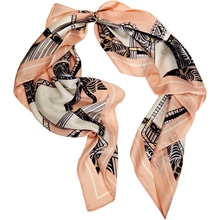 Hair Scarf Silk Peach Nectar