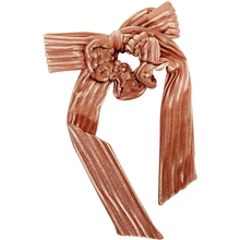 Scrunchie Velvet Bow Peach