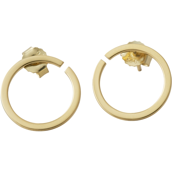 Design Letters Earring Hoops 16 mm Gold (Kuva 1 tuotteesta 2)