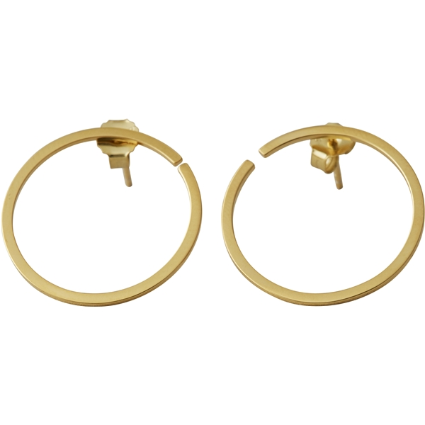 Design Letters Earring Hoops 24 mm Gold (Kuva 1 tuotteesta 3)