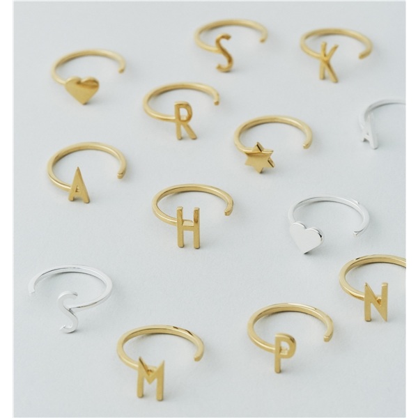 Design Letters Ring Silver A-Z (Kuva 2 tuotteesta 2)