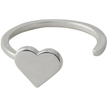 Design Letters Heart Ring Silver