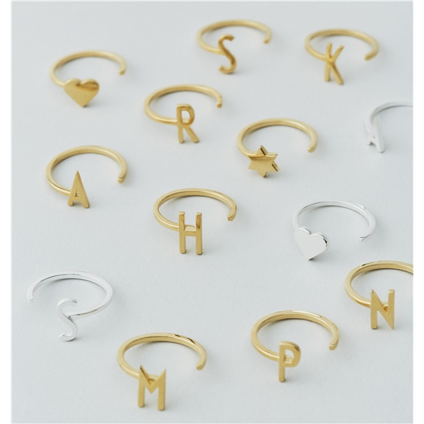 Design Letters Star Ring Gold (Kuva 2 tuotteesta 2)