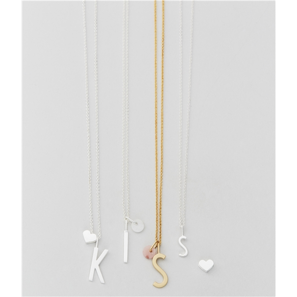 Design Letters Silver White Marble Charm 6 mm (Kuva 2 tuotteesta 2)