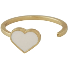 Design Letters Enamel Heart Ring Gold