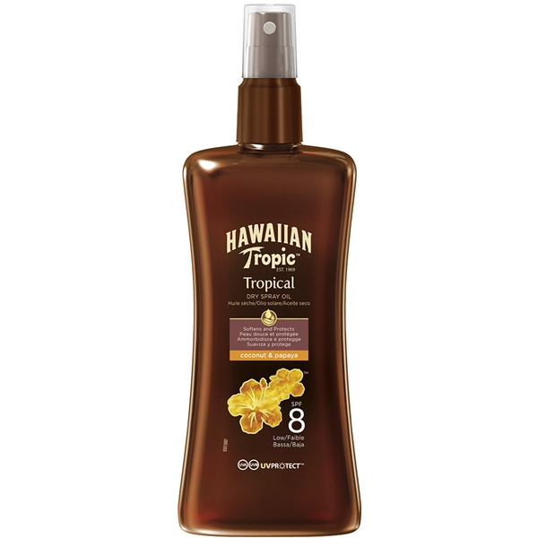 Protective Dry Spray Oil Spf 8 200 ml, Hawaiian Tropic