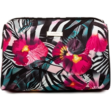 Lilja Zebra Flower Print Cosmetic Bag