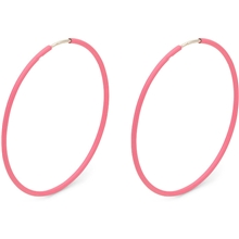 1 set - Pink Creoles 36mm