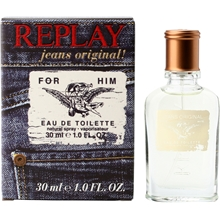 Replay Jeans Original For Him - Edt Spray