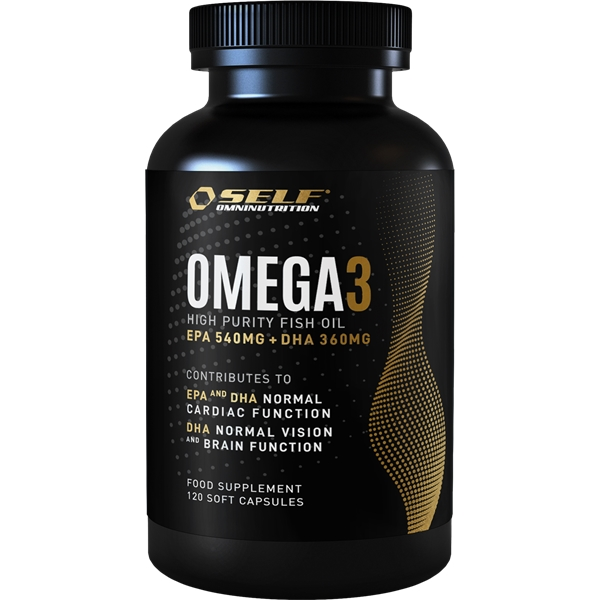 Omega 3 Fish Oil 120 kapselia, SELF Omninutrition