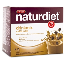 15 annosta - Cafe latte - Naturdiet drinkmix