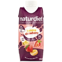 Naturdiet Free Shake No Lactose Banana-Strawberry 330 ml