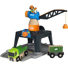 BRIO 33962 Smart Tech -konttinosturi
