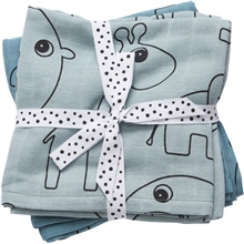 Done By Deer Burp Cloth 2-P Contour Blue