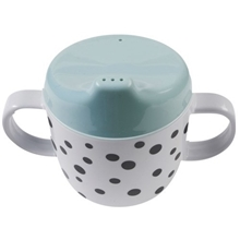 Done By Deer Spout Cup Happy Dots Blue