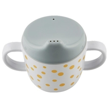 Done By Deer Spout Cup Happy Dots Gold/Grey