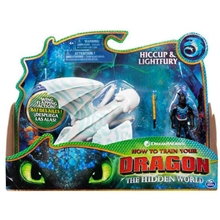 Dragons Hiccup & Lightfury Blue