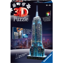 Palapeli rakennus 3D - Empire State Building LED