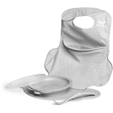 Herobility Eco Placemat Feeding Set Mist Grey