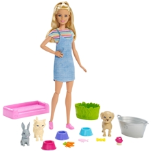 Barbie Play & Wash Kotieläin Lelusetti